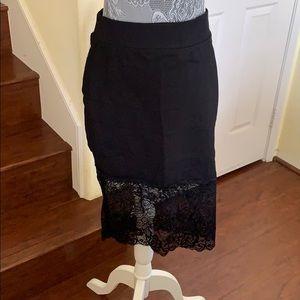 Torrid Black Lace Skirt